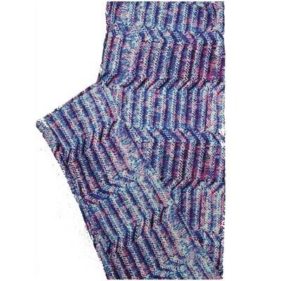 LuLaRoe One Size OS Beveled Stripe Blue Leggings (OS fits Adults 2-10)