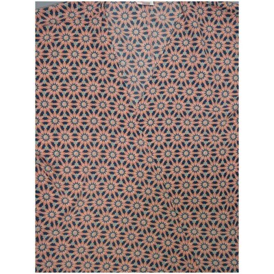 LuLaRoe Lindsay Large Dark Turquoise Light Teal Light Pink Mandala Geometric Silky Kimono Light Weight Made in Vietnam 100% Polyester Large fits 18-22