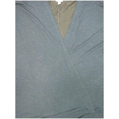 LuLaRoe Lindsay Large L Slate Sheer Ribbed Kimono Light Weight Made in Guatamala 57% Polyester 38% Rayon 5% Spandex Large fits 18-22