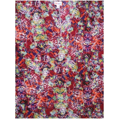 LuLaRoe Lindsay Small S Kimono Floral White Blue Yellow Red Silky Light Weight Made in Vietnam 100% Polyester Small fits 00-8