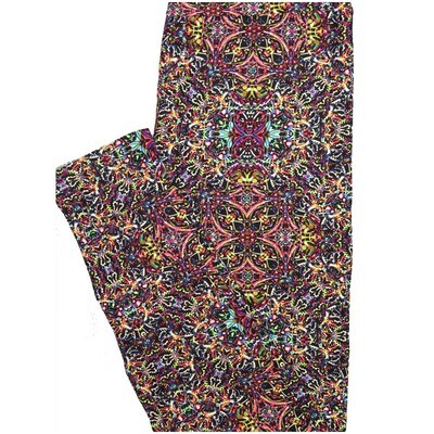 LuLaRoe One Size OS 70s Trippy Psychedelic multicolor Leggings (OS fits Adults 2-10)