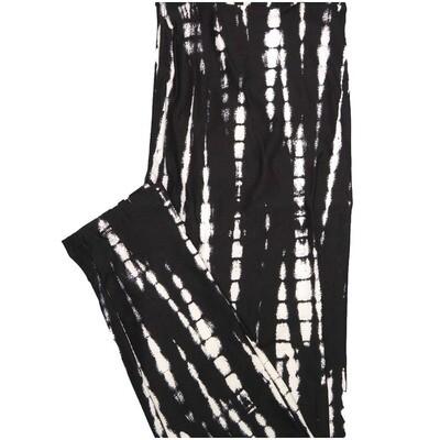 LuLaRoe One Size OS Tye Dye Geometric Black White Leggings (OS fits Adults 2-10)
