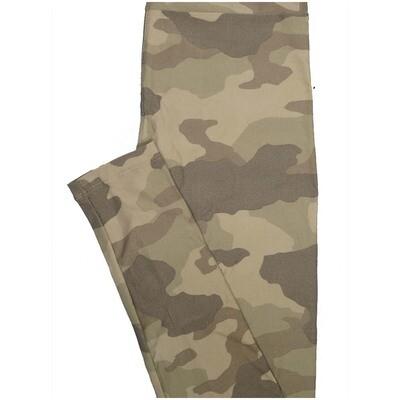 LuLaRoe One Size OS Camouflage Green Leggings (OS fits Adults 2-10)