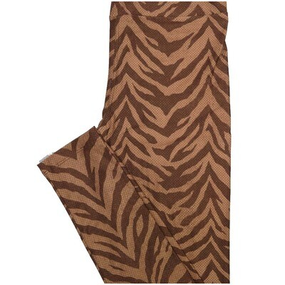 LuLaRoe One Size OS Polka Dot Zebra Print Brown Light Brown Leggings (OS fits Adults 2-10)