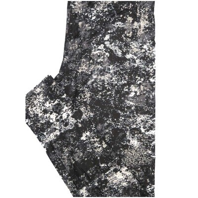 LuLaRoe One Size OS Mottled Abstract Geometric Black White Gray Leggings (OS fits Adults 2-10)