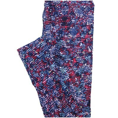 LuLaRoe One Size OS Red White Blue Polka Dot Leggings (OS fits Adults 2-10)