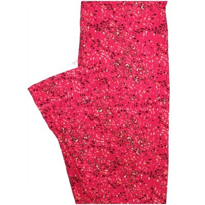 LuLaRoe One Size OS Floral Dark Pink White Black Leggings (OS fits Adults 2-10)