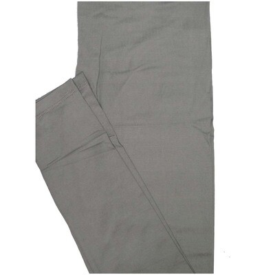 LuLaRoe One Size OS Solid Silvery Gray (41049785) Womens Leggings fits Adult sizes 2-10