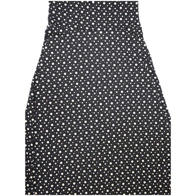 LuLaRoe Maxi XX-Small XXS Black White Polka Dot A-Line Skirt fits Women 00-0