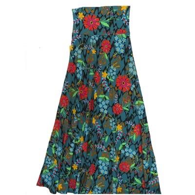 LuLaRoe Maxi XX-Small XXS Floral A-Line Skirt fits Women 00-0