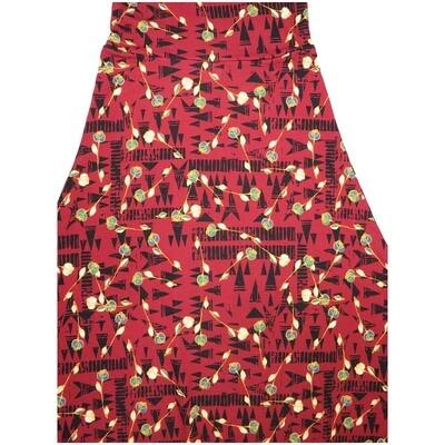 LuLaRoe Maxi XX-Small XXS Floral Geometric Stripe A-Line Skirt fits Women 00-0