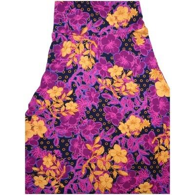 LuLaRoe Maxi XX-Small XXS Floral Polka Dot A-Line Skirt fits Women 00-0