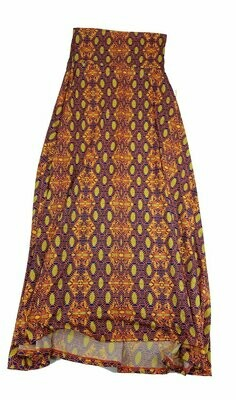 LuLaRoe Maxi XX-Small XXS Trippy 70s Psychedelic Mandala Geometric A-Line Skirt fits Women 00-0