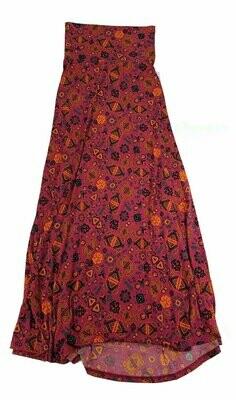 LuLaRoe Maxi XX-Small XXS Mandala Southwestern Aztek Geometric A-Line Skirt fits Women 00-0
