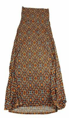 LuLaRoe Maxi XX-Small XXS Trippy 70s Checkerboard Psychedelic A-Line Skirt fits Women 00-0