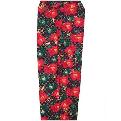 LuLaRoe Kids Large/XL LXL Floral Leggings fits Kids sizes 8-14