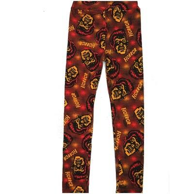 LuLaRoe Kids Large/XL LXL Halloween Horrow Frankenstein Red Black Yellow Leggings ( L/XL fits kids 8-14) LXL-2000-L
