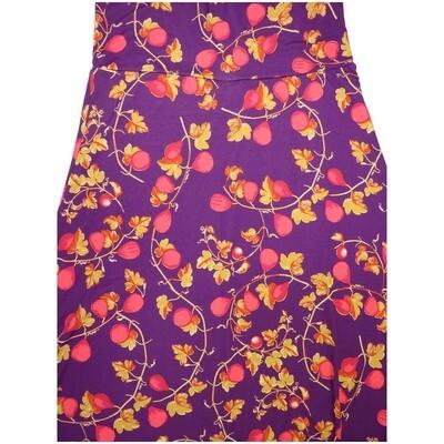 LuLaRoe Maxi X-Large XL Floral Fruit Vine A-Line Skirt fits Women 18-20