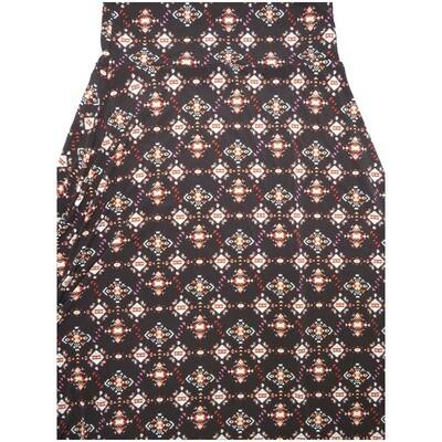 LuLaRoe Maxi Small S Trippy Geometric A-Line Skirt fits Women 6-8