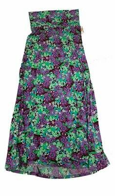 LuLaRoe Maxi X-Small XS Floral A-Line Skirt fits Women 2-4