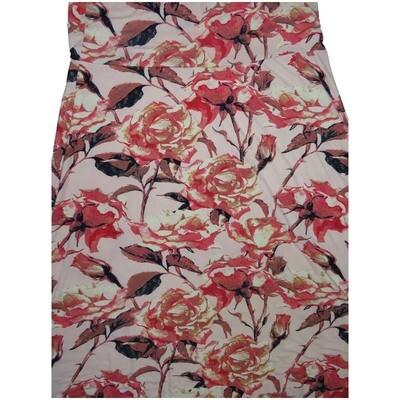 LuLaRoe Maxi XX-Large 2XL Gray Red Black Roses A-Line Skirt fits Women 22-24