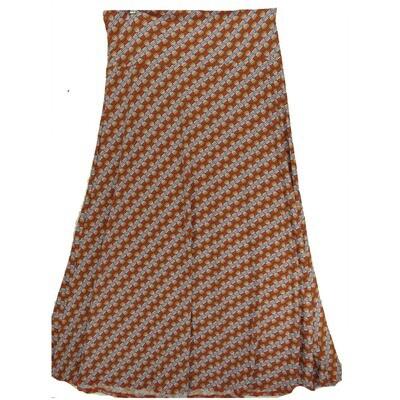 LuLaRoe Maxi XX-Large 2XL Diagonal Geometric Stripe A-Line Skirt fits Women 22-24