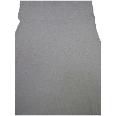 LuLaRoe Maxi XX-Large 2XL Solid Gray A-Line Skirt fits Women 22-24