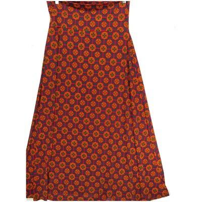 LuLaRoe Maxi X-Large XL Mandala Checkerboard Polka Dot A-Line Skirt fits Women 18-20