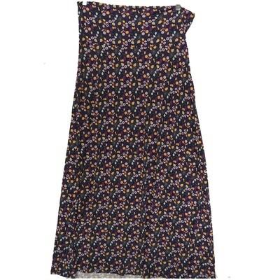 LuLaRoe Maxi X-Large XL Floral Polka Dot A-Line Skirt fits Women 18-20