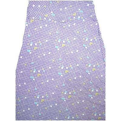 LuLaRoe Maxi X-Large XL Blue White Yellow Polka Dot Grid A-Line Skirt fits Women 18-20