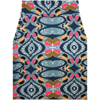 LuLaRoe Maxi X-Large XL Trippy Wavy Geometric A-Line Skirt fits Women 18-20