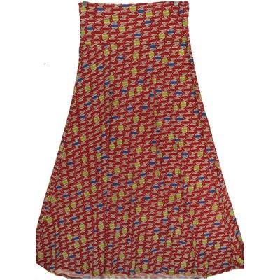 LuLaRoe Maxi X-Large XL Multicolor World Sphere A-Line Skirt fits Women 18-20