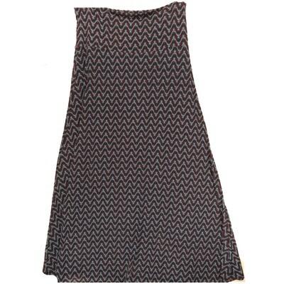 LuLaRoe Maxi X-Large XL Zig Zag Wavy Stripe A-Line Skirt fits Women 18-20