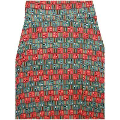 LuLaRoe Maxi X-Large XL Geometric Grid Aztek Southwestern Stripe A-Line Skirt fits Women 18-20