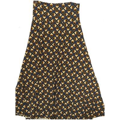 LuLaRoe Maxi X-Large XL Psychedelic Trippy Geometric A-Line Skirt fits Women 18-20