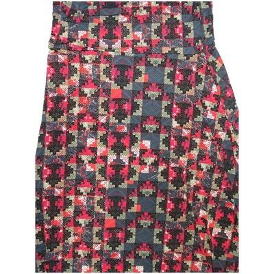 LuLaRoe Maxi X-Large XL Aztek Psychedelic Block A-Line Skirt fits Women 18-20