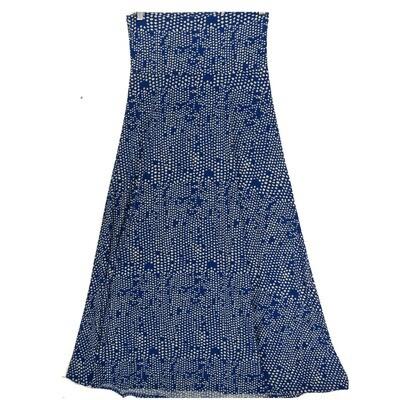LuLaRoe Maxi Small S Blue White Geometric A-Line Skirt fits Women 6-8