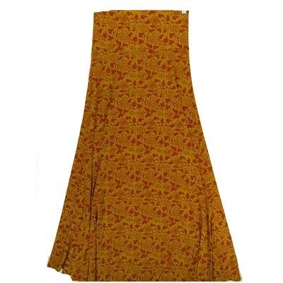 LuLaRoe Maxi Small S Floral Vine A-Line Skirt fits Women 6-8