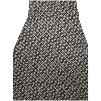 LuLaRoe Maxi Small S Black White Geometric Stripe A-Line Skirt fits Women 6-8