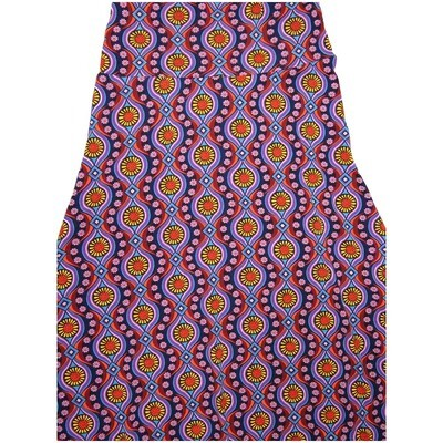 LuLaRoe Maxi Small S Trippy 70s Psychedelic Stripe Floral A-Line Skirt fits Women 6-8