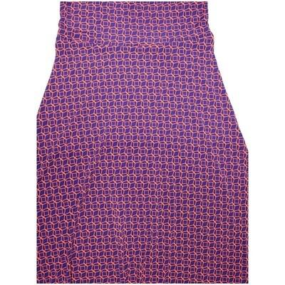 LuLaRoe Maxi Small S Hexagon Diamond Geometric A-Line Skirt fits Women 6-8