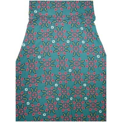 LuLaRoe Maxi Small S Floral Geometric A-Line Skirt fits Women 6-8