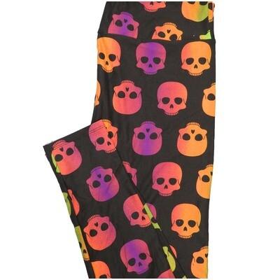 LuLaRoe Tall Curvy TC Skulls Leggings (TC fits Adults 12-18)