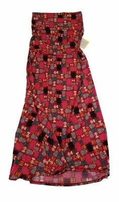 LuLaRoe Maxi X-Small XS Floral South American Geometric A-Line Skirt fits Women 2-4