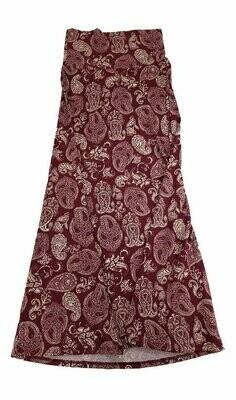 LuLaRoe Maxi X-Small XS Paisley Black Gray White A-Line Skirt fits Women 2-4