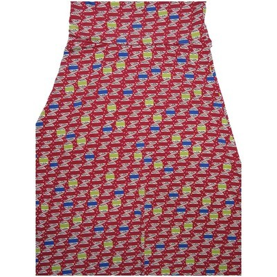 LuLaRoe Maxi X-Small XS Multicolor World Sphere A-Line Skirt fits Women 2-4