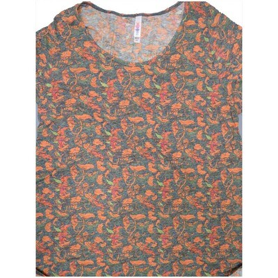 LuLaRoe Classic Tee XX-Large 2XL Floral Womens Shirt fits sizes 22-24