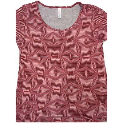 LuLaRoe Classic Tee X-Small XS Trippy Stripe Geometric Womens Shirt fits 2-4