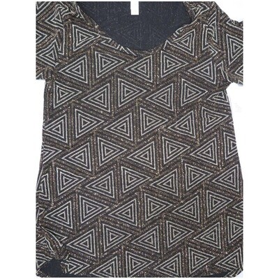 LuLaRoe Classic Tee X-Small XS Glitter Elegant Collection Triangle Stripe Geometric Womens Shirt fits 2-4