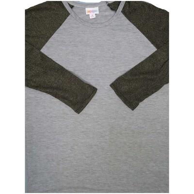 LuLaRoe Randy Medium M Sparkly Elegant Collection Womens Raglan Sleeve Unisex Baseball Tee Shirt - M fits 10-12
